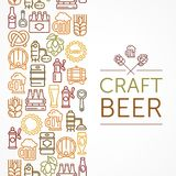 Vintage banner for craft brewery color Royalty Free Stock Image