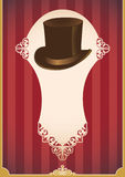Vintage banner with hat. Royalty Free Stock Image