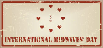 Vintage banner International Midwives Day Royalty Free Stock Photo