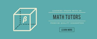 Vintage banner for math tutors Stock Photography