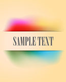 Vintage banner with multicolored pastel rainbow gradient Royalty Free Stock Image