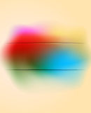Vintage banner with multicolored pastel rainbow gradient Stock Image