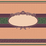Vintage banner. With ornaments on polka dot background Stock Photography