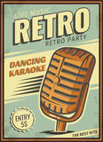 Vintage banner, retro party. Stock Images