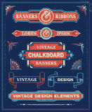 Vintage Banner and Ribbon Design Elements Stock Photography