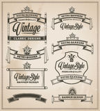 Vintage banner and ribbon vector set Royalty Free Stock Image