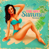 Vintage banner for summer Royalty Free Stock Photography