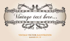 Vintage  banner template Royalty Free Stock Photography