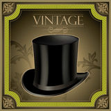 Vintage banner with top hat royalty free illustration