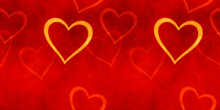 Vintage banner Valentines day. Royalty Free Stock Photos