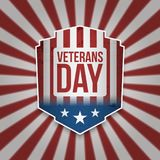 Vintage Banner with Veterans Day Text. Vector Illustration Royalty Free Stock Photos