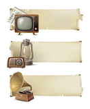 Vintage banners Royalty Free Stock Photos