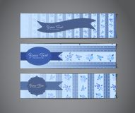 Vintage banners Stock Images
