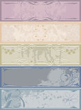Vintage banners Royalty Free Stock Image