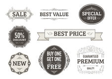 Vintage Banners, Labels For Businesses Royalty Free Stock Images