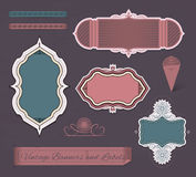 Vintage banners and labels Royalty Free Stock Photo