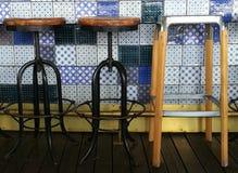Vintage bar stools Royalty Free Stock Photos