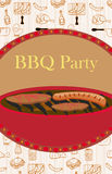 Vintage Barbecue Party Invitation Royalty Free Stock Image