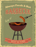 Vintage Barbecue party poster Royalty Free Stock Photo