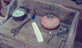 Vintage Barber Equipment Fotografía de archivo libre de regalías