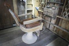 Vintage Barber Equipment. Antique Beauty Salon table set. Stock Photo