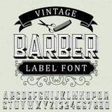 Vintage Barber Label Font Poster Photographie stock libre de droits