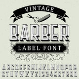 Vintage Barber Label Font Poster Royalty Free Stock Photography