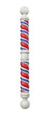 Vintage barber pole isolated. Stock Image