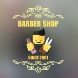 Vintage barber shop badge Stock Photography