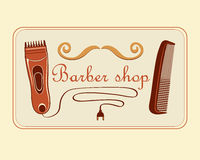 Vintage Barber Shop Label Photo libre de droits