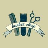 Vintage Barber Shop Label Royalty Free Stock Photo