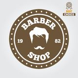 Vintage barber shop logo, labels, badges and Stock Photography
