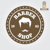Vintage barber shop logo, labels, badges and Stock Photography