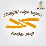 Vintage barber shop logo, labels, badges and Royalty Free Stock Photography