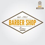 Vintage barber shop logo, labels, badges and Royalty Free Stock Photos