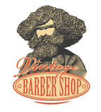 Vintage barber shop logo Stock Photography