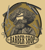 Vintage barber shop sign board Royalty Free Stock Image