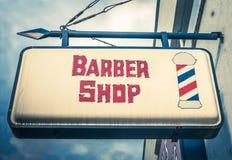 Vintage Barber Shop Sign Stock Images