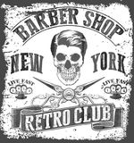 Vintage Barber Shop tee graphic Stock Photos