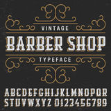 Vintage Barber Shop Typeface Poster Photo stock