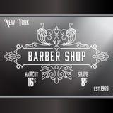 Vintage barber shop window advertising template royalty free stock