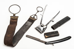 Vintage barber tools Royalty Free Stock Photos