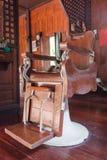 Vintage Barbershop Armchair Stock Photo