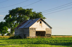 Vintage barn in the afternoon light. Stock Photo