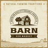 Vintage Barn Label Stock Images