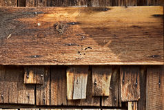 Vintage Barn Wood Horizontal Sign Board Stock Images