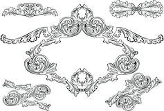 Vintage Barocco Frames And Design Elements Stock Image