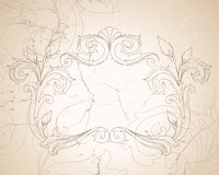 Vintage baroque background Royalty Free Stock Image