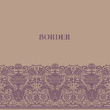 Vintage baroque border Stock Photo