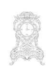 Vintage Baroque Classic clock Vector Royalty Free Stock Photo